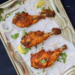 Indian Style Spicy Baked Chicken Drumsticks Recipe