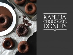 Kahlua Chocolate Donuts