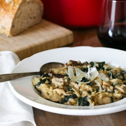 Kale and Mushroom Risotto Recipe