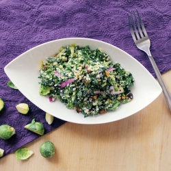 Kale Brussels Sprouts Salad Recipe