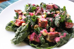 Kale Salad with Hazelnuts and Roasted Chioggia Beets Recipe