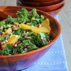 Kale Salad with Pomegranate Orange Pine Nuts Recipe