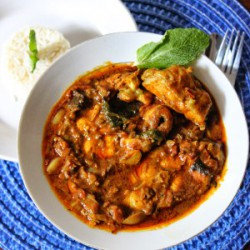 Kerala Spicy Red Fish Curry