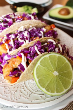 Korean Shrimp Tacos with Chipotle Yogurt Sauce Recipe
