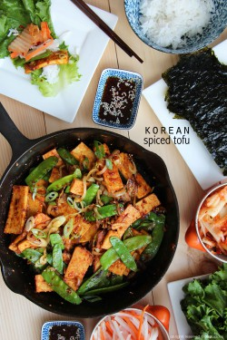 Korean spiced tofu