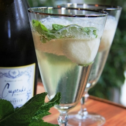 Lemon Mint Fizz Martini Recipe