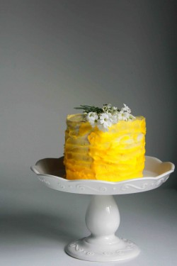 Lemon Ombre Cake