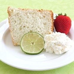 Lime Angel Food Cake