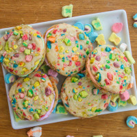 Lucky Charms Rainbow Cookies
