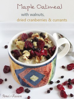 Maple Oatmeal with Walnuts