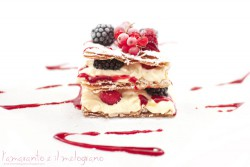 millefoglie with chantilly and soft fruits