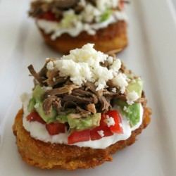 Mini Corn Cake Tostadas