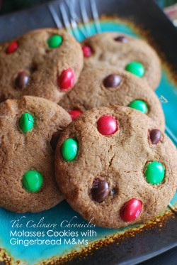 Molasses Cookies with Gingerbread MMs Recipe