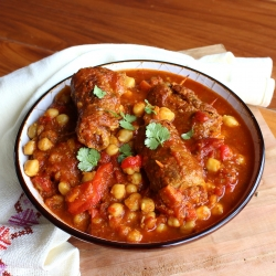 Moroccan Beef and Chickpea Tagine