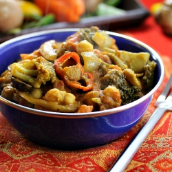 Moroccan Spiced Vegetable Chickpea Stew Recipe