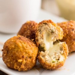 Mozzarella Stuffed Buffalo Chicken Meatballs