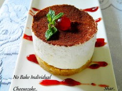 No bake individual cheesecake