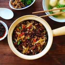Noodles With Savory Meat Sauce