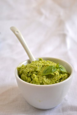 Nut-Free Garlic Scape Pesto