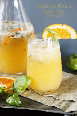 Orange Basil Mojito Cocktail