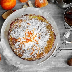 Orange Polenta Hazelnut Cake Recipe