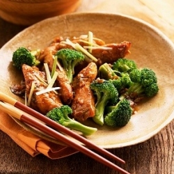 Oriental Chicken and Ginger Stir Fry Recipe