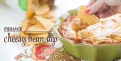 Oven-Baked Cheesy Bean Dip
