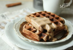 Paleo Waffles with Hazelnut Sauce Recipe