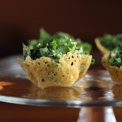 Parmesan Cups with Spicy Kale Caesar Salad Recipe