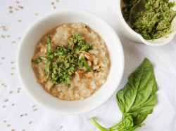 Parsnip Sorghum Risotto with Jalapeno Pesto Recipe