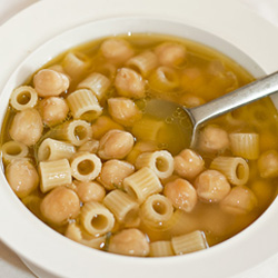 Pasta and Chickpeas Soup
