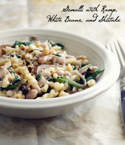 Pasta with Ramp and White Beans