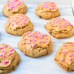 PB Frosted Maple Bacon Cookies