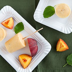 Peach Lemon Balm Popsicles
