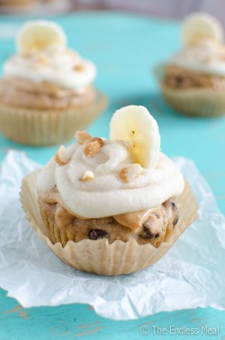 Peanut Butter Banana Cupcakes with Banana Frosting Recipe