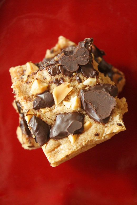 Peanut Butter Chocolate Blondies Recipe