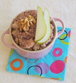 Pear and Raspberry Quinoa Porridge