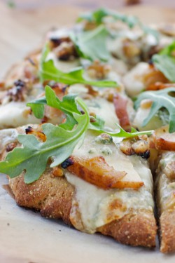 Pear Walnut and Blue Cheese Pizza Recipe