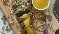 Pistachio Crusted Flank Steak