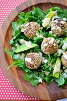 Pistacho Garbanzo Meatball Salad