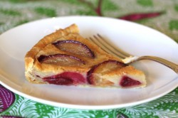 Plum Tart in a Cognac Custard