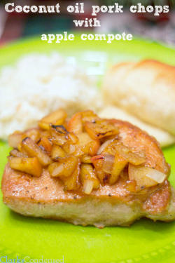 Pork Chop with Apple Compote