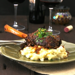 Port and Red Wine-Braised Lamb Shanks with Orange Gremolata
