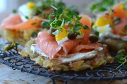 Potato Cakes with Salmon