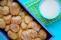 Pretzel Monkey Bread Beer Cheese