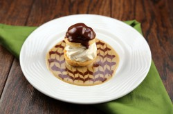 Profiterole with Chocolate Sauce