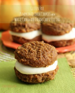 Pumpkin Quinoa Cookies with Cream Cheese Filling Recipe