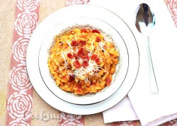Pumpkin Risotto with Bacon