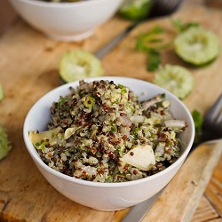 Quinoa w Artichokes and Avocado