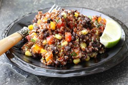 Red Quinoa, Black Bean Salad
